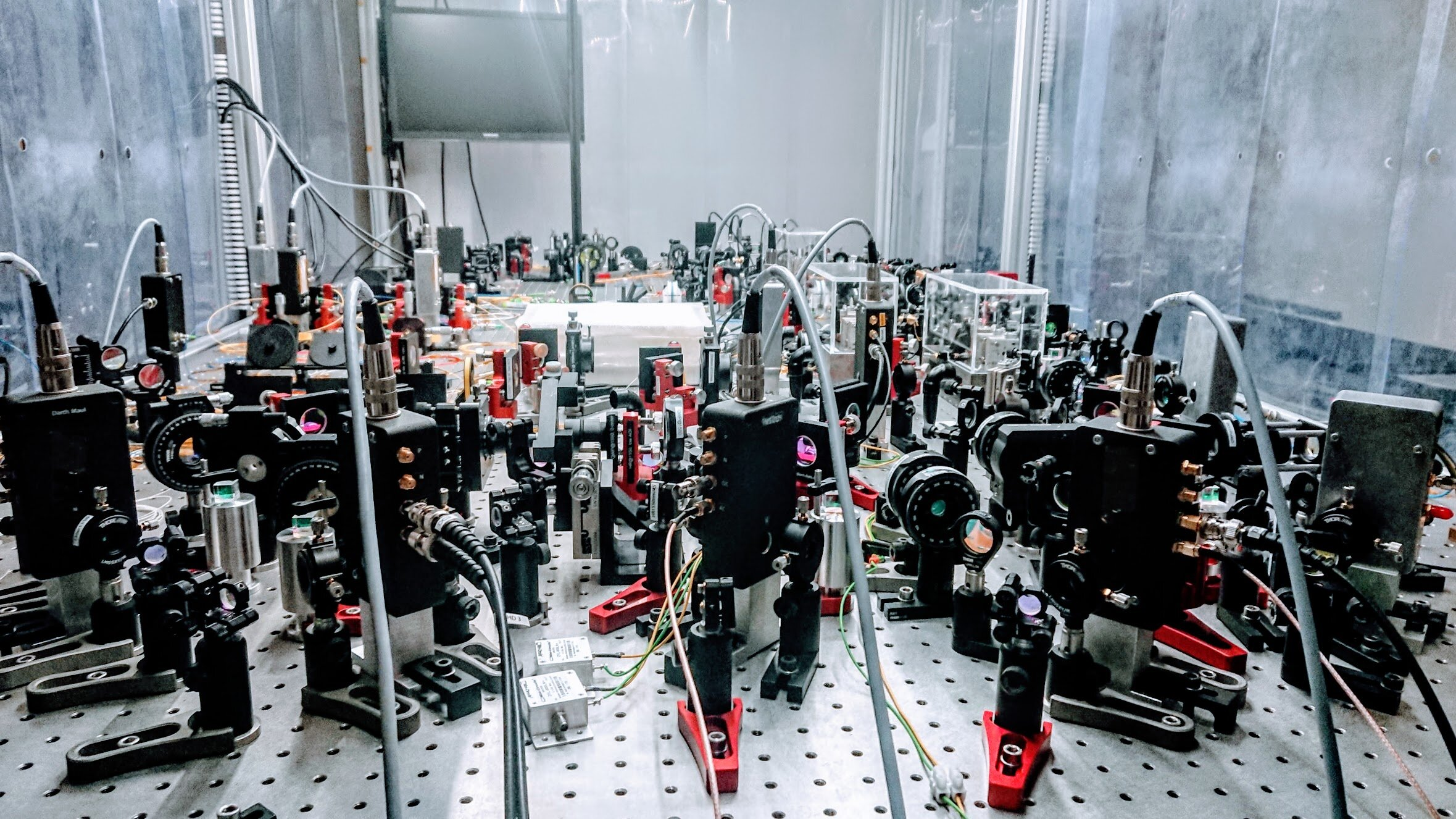The quantum distributed sensing experimental setup used in the study. Credit: Jonas S. Neergaard-Nielsen.