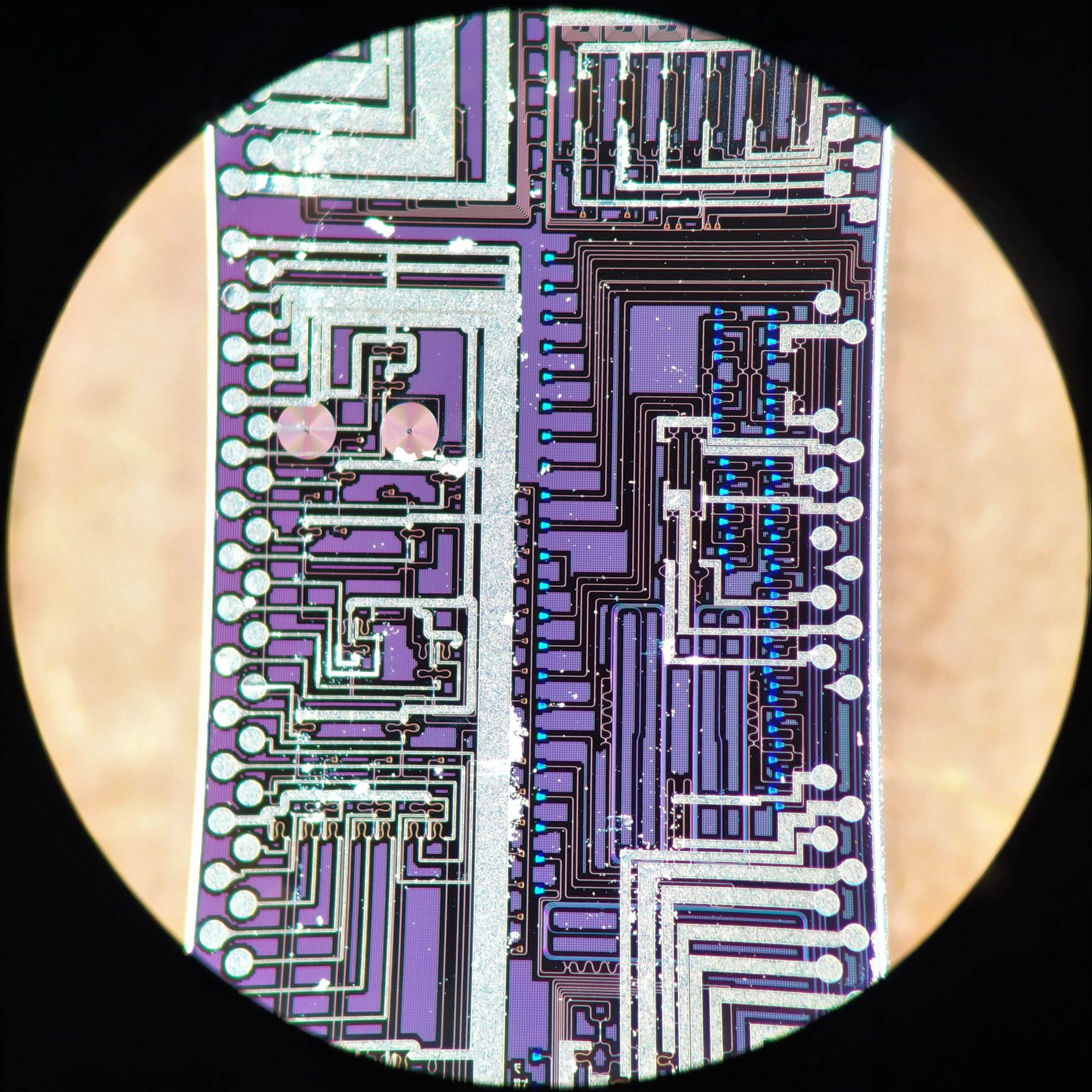 The silicon photonic chip used in this study to generate and interfere high-quality photons. Credit: University of Bristol