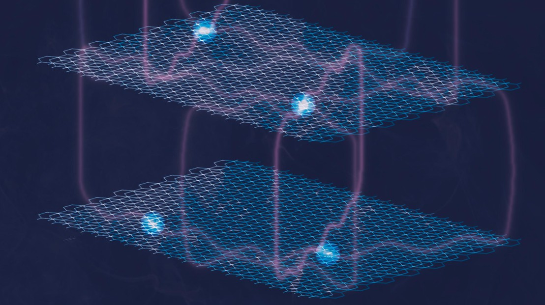 While conducting experiments on a layered metal, EPFL researchers witnessed something very surprising. The unexpected electron behavior they discovered could open up possibilities in the field of quantum computing. (© 2020 EPFL/QMAT)