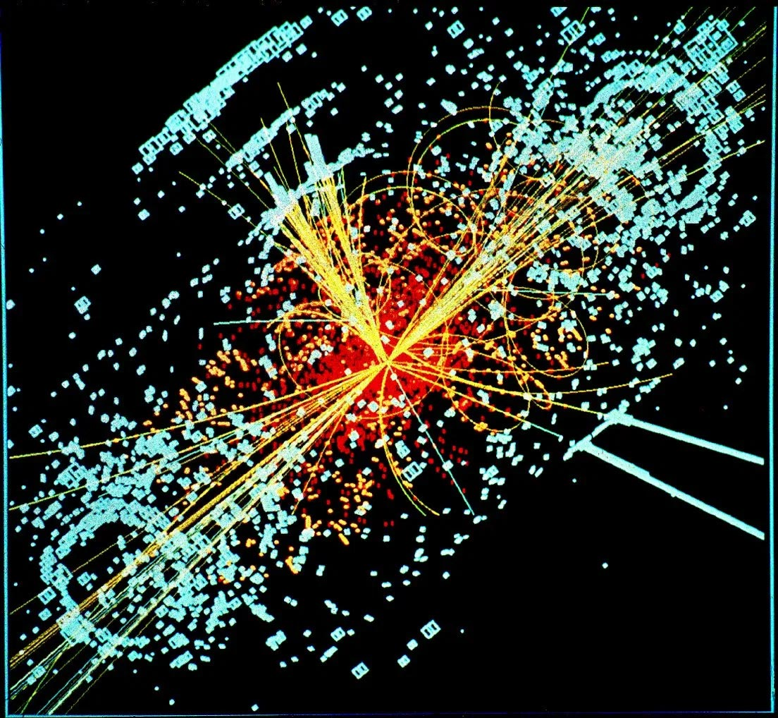 Simulation of a collision in the Large Hadron Collider, producing the Higgs boson. © 1997-2021 CERN (CC-BY-SA-4.0) Credit: University of Granada